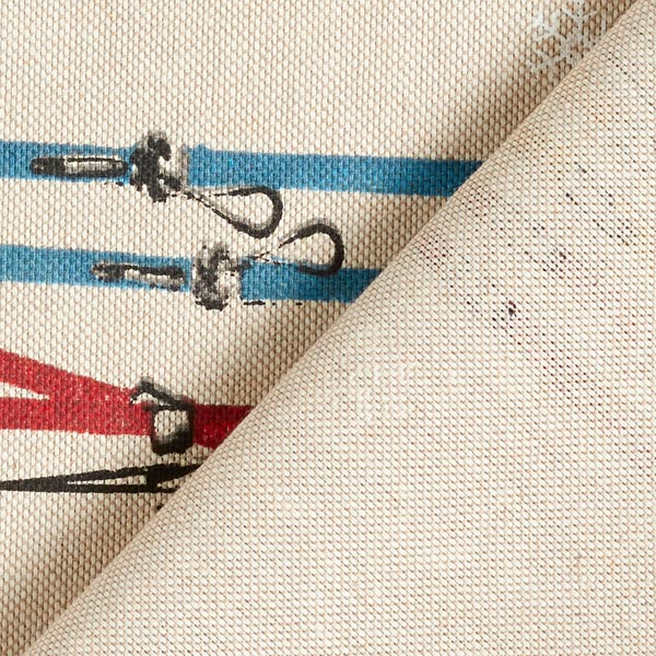 Tissu de décoration Semi-panama Ski – nature