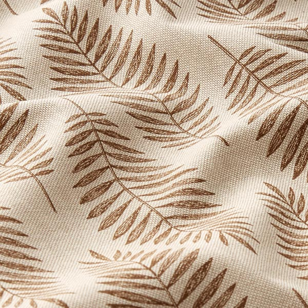 Tissu de décoration Semi-panama Fougère – marron/nature