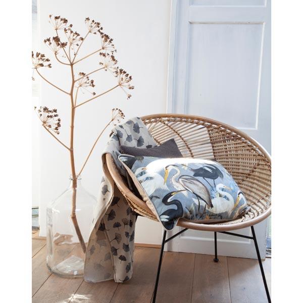 Tissu de décoration Semi-panama Héron – gris
