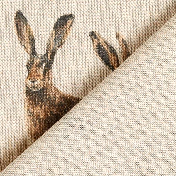 Dekostoff Halbpanama Tiere im Wald – natur