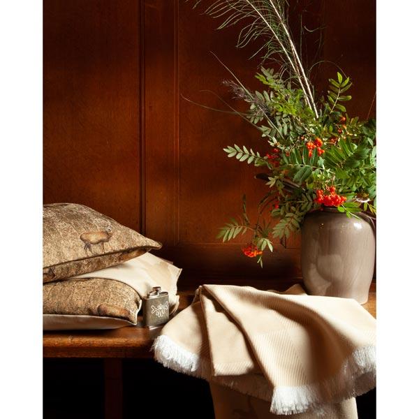 Tissu de décoration Jacquard Plaid Vichy – beige