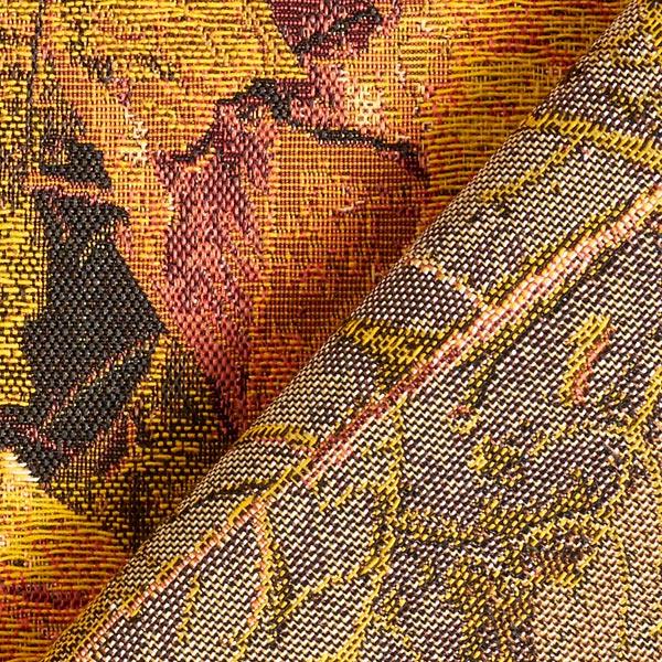Tissu de décoration Gobelin Feuilles d'automne – orange/marron rouge