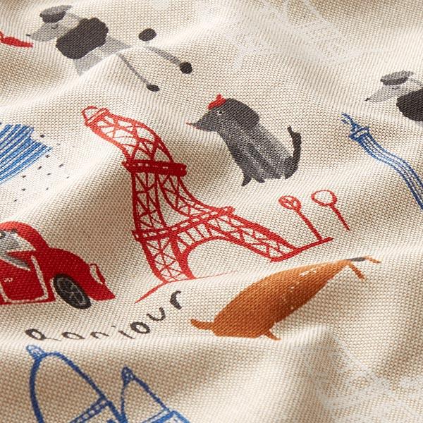 Tissu de décoration Semi-panama Chiens à Paris