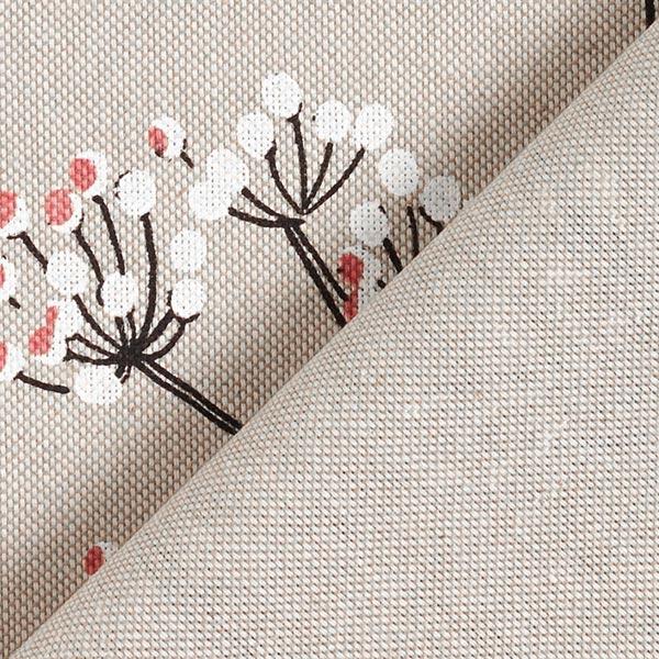 Tissu de décoration Semi-panama Oiseaux et branches – nature