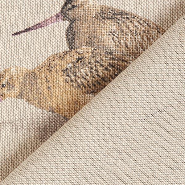 Tissu de décoration Semi-panama Oiseaux – nature/beige