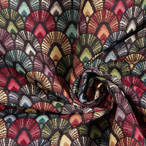 Tissu de décoration Gobelin Arcs – noir