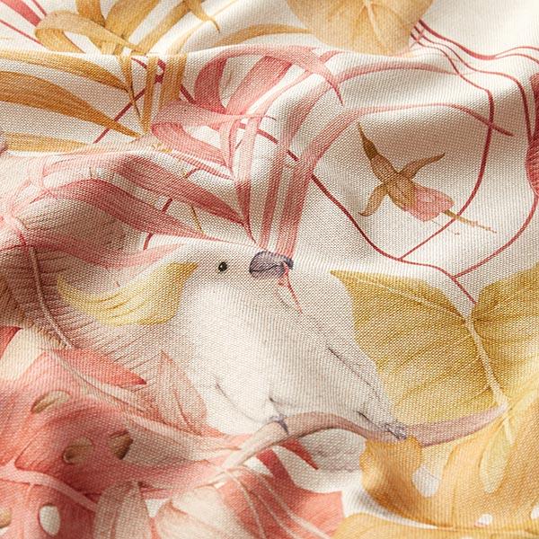 Dekostoff Halbpanama Digitaldruck Tropica – natur/senf