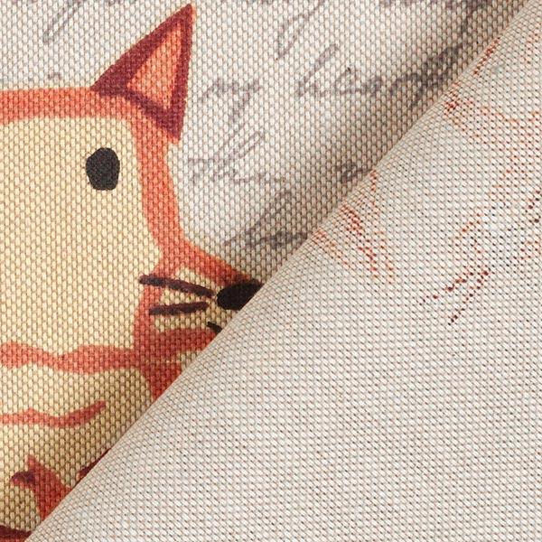 Tissu de décoration Semi-panama Animaux de la forêt – nature/marron