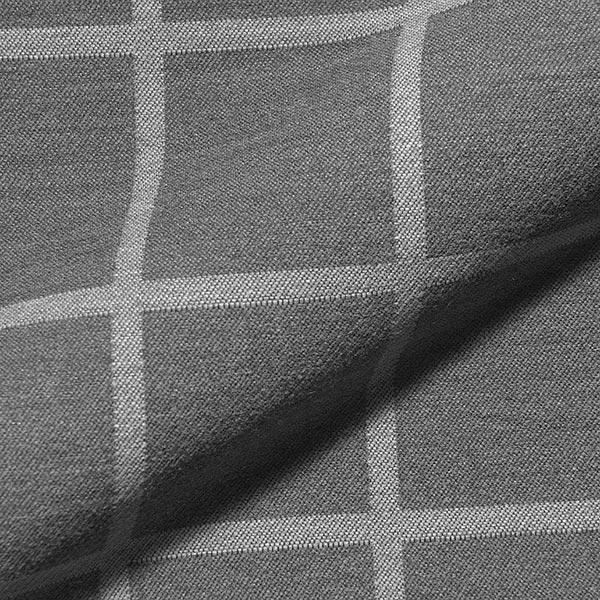 Dekostoff Jacquard Karo – dunkelgrau/grau