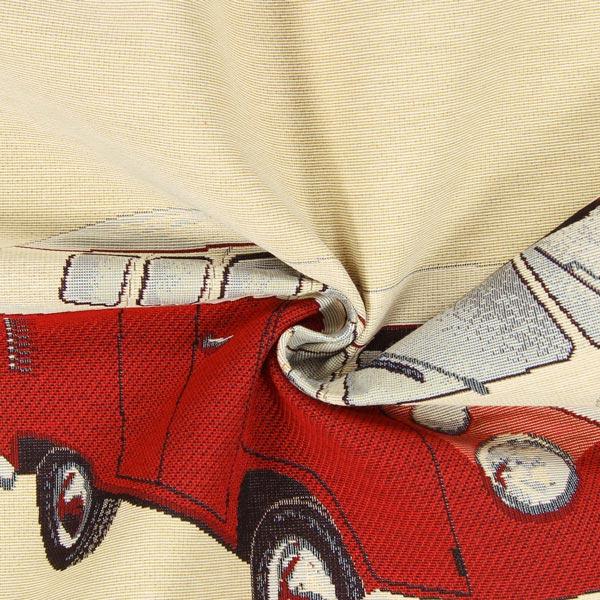 Gobelinstück Roter Bulli VW