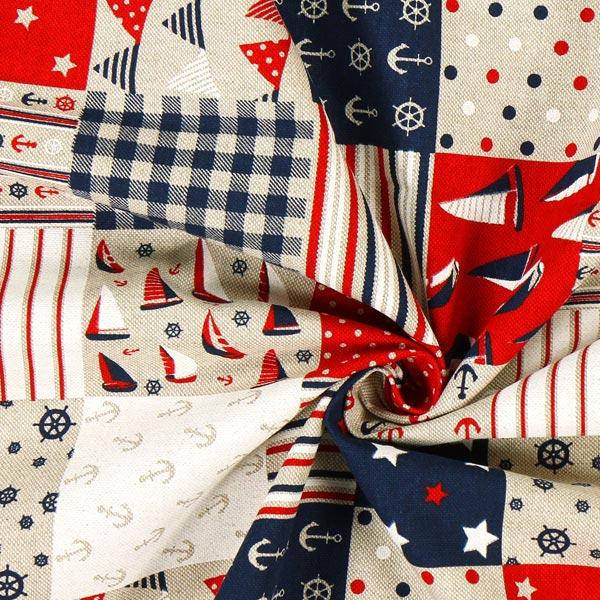 Tissu de décoration nature – Symboles maritimes