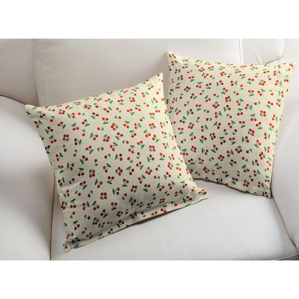 Tissu de décoration Semi-panama Cerises – nature