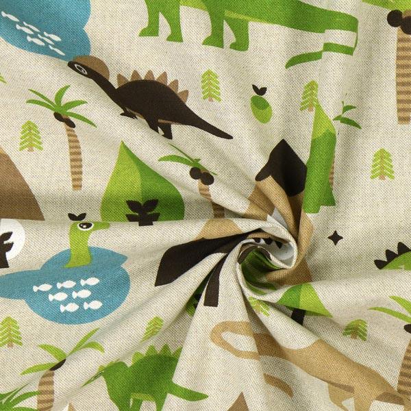 Tissu de décoration nature – Dinosaures