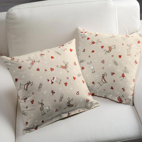 Tissu de décoration Semi-panama Rennes joyeux – nature