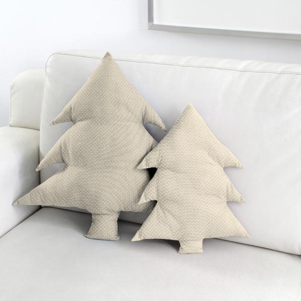 Tissu de décoration Semi-panama Petits points – nature