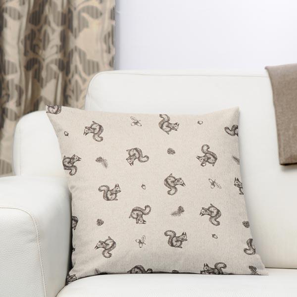 Tissu de décoration Aspect lin Écureuil – beige