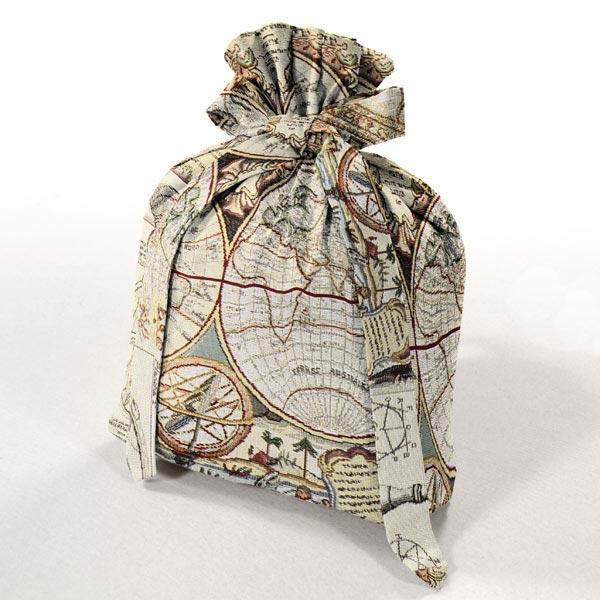 Jacquard Gobelin Carte du monde – beige