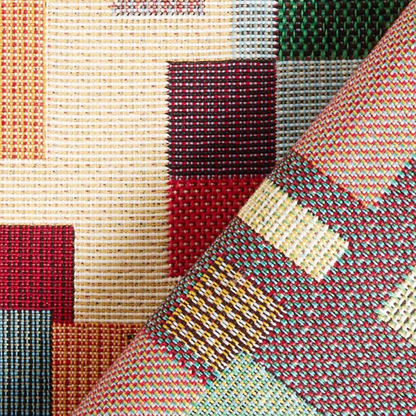 Jacquard Gobelin carrés – beige