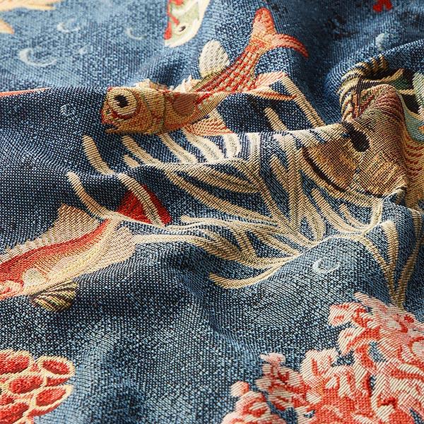 Jacquard Gobelin poissons – bleu