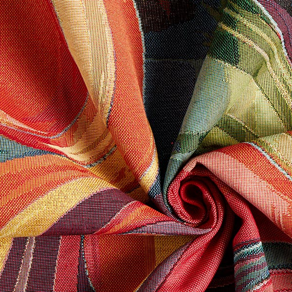 Jacquard Gobelin ornamental – rouge/jaune/lilas