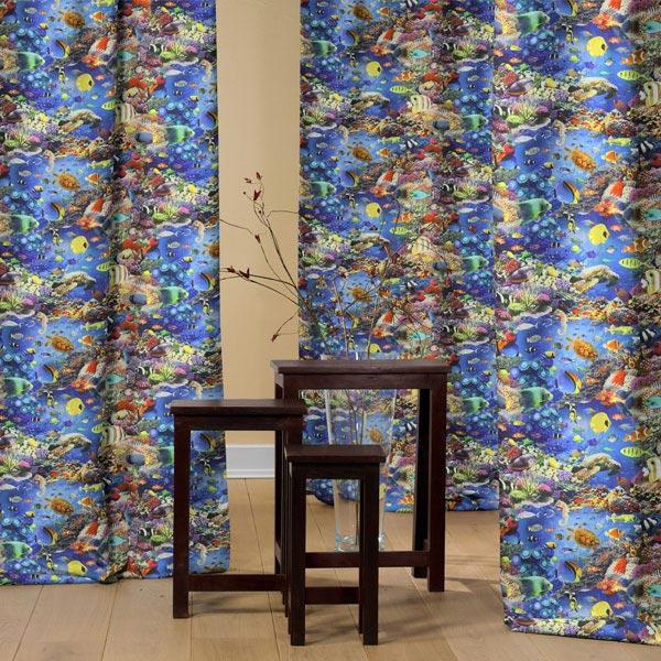 Tissu de décoration Impression numérique Aquarium
