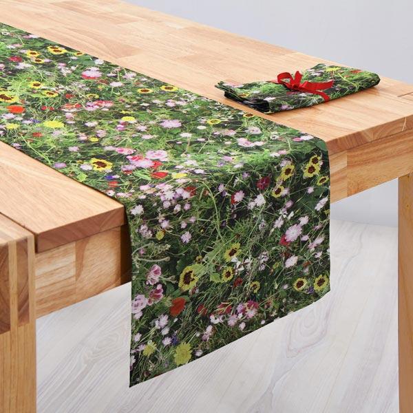 Semi-panama Fleurs sauvages – vert