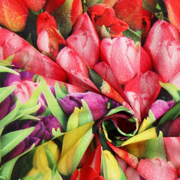 Semi-panama Parterre de tulipes