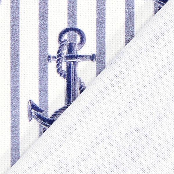 Tissu de décoration Semi-panama ancre – bleu