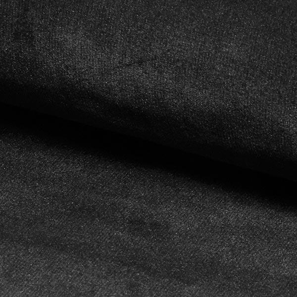 Tissu d'ameublement & revêtement Velours Bluvel – noir