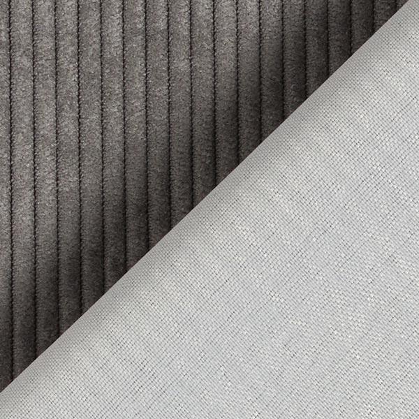 Tissu de revêtement aspect côtelé Fjord – gris