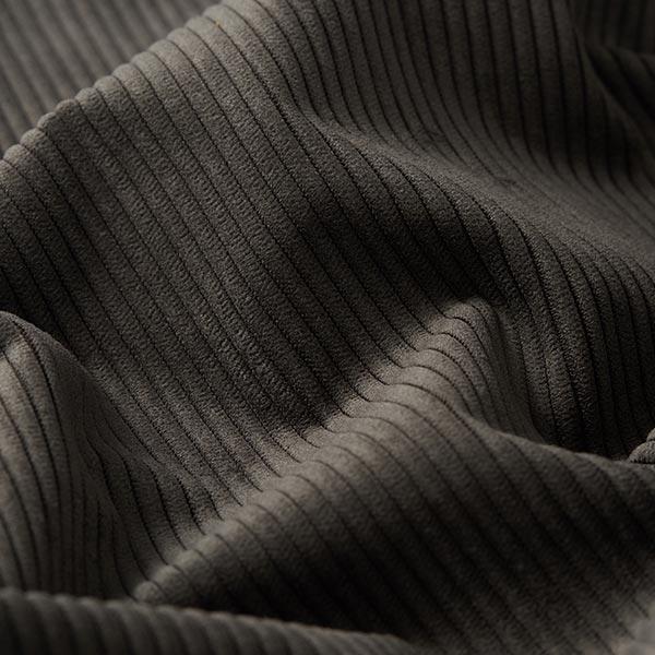 Tissu d'ameublement aspect côtelé Fjord – anthracite