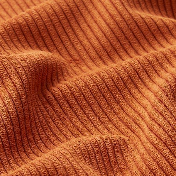 Tissu de revêtement aspect côtelé Fjord – terre cuite