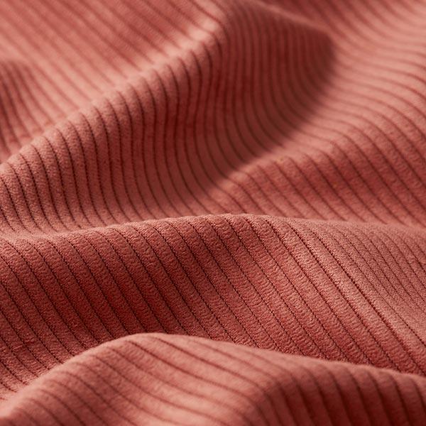 Tissu de revêtement aspect côtelé Fjord – rouge rouille