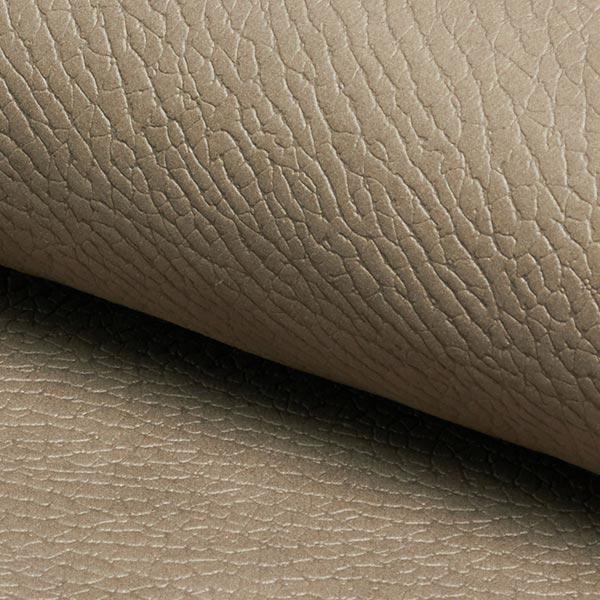 Tissu d'ameublement Similicuir Navaro – beige foncé