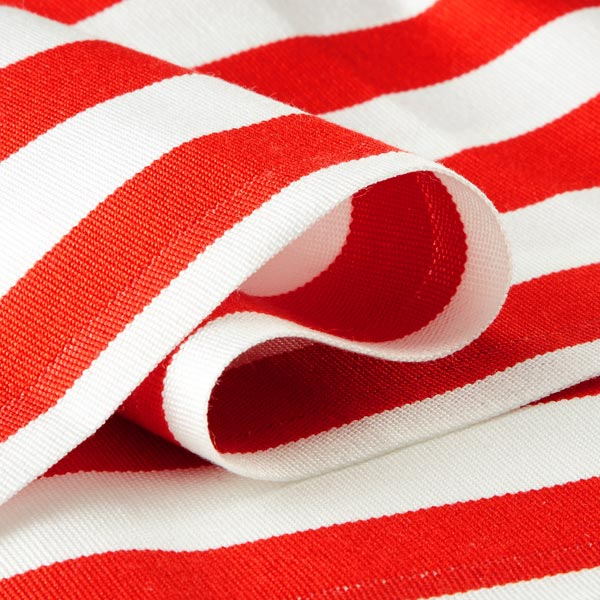 Extérieur Tissu pour chaise longue Rayures verticales, 44 cm – rouge