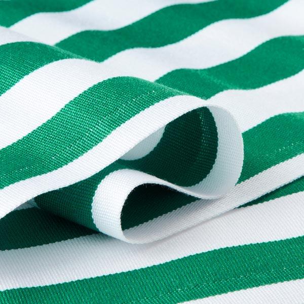 Extérieur Tissu pour chaise longue Rayures verticales, 44 cm – vert