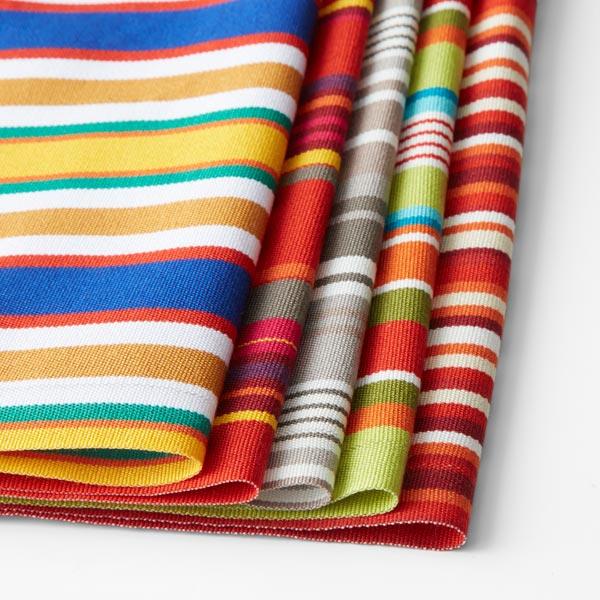 Extérieur Tissu pour chaise longue Rayures verticales, 44 cm – bleu/marron