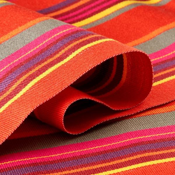 Tissu d'extérieur pour chaise longue Rayures verticales, 44cm – rouge/lilas