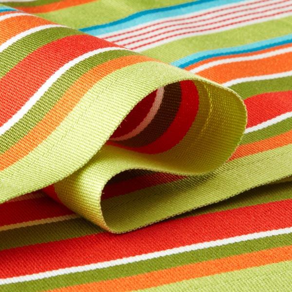 Tissu d'extérieur pour chaise longue Rayures verticales, 44cm – vert/rouge