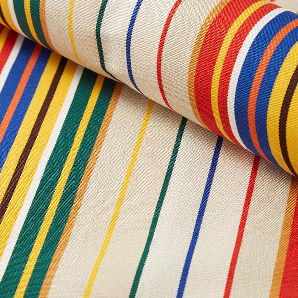Tissu d'extérieur pour chaise longue Rayures verticales, 44cm – nature/mélange de couleurs