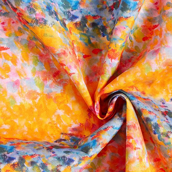 Tissu d'extérieur Impressionniste – orange