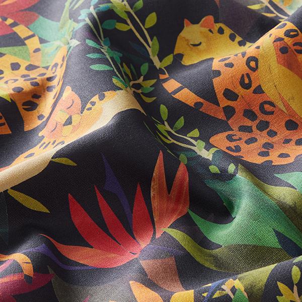 Outdoorstoff Leopard – schwarz