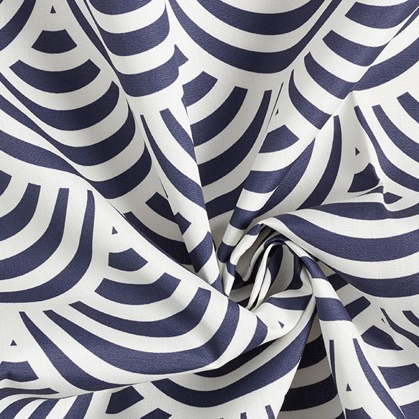 Tissu d'extérieur Motif graphique – bleu marine