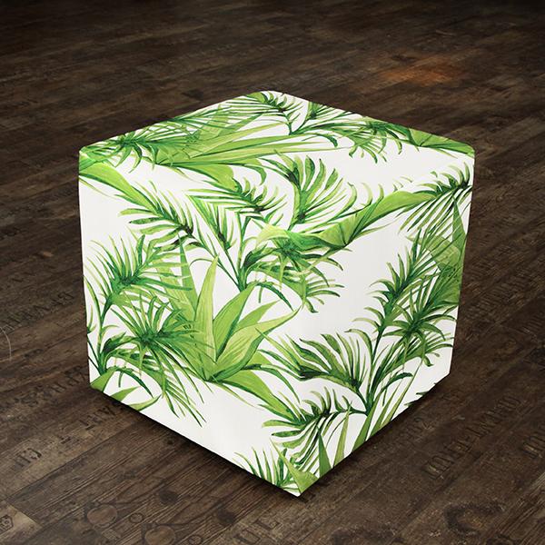 Tissu d'extérieur Feuilles tropicales – vert clair