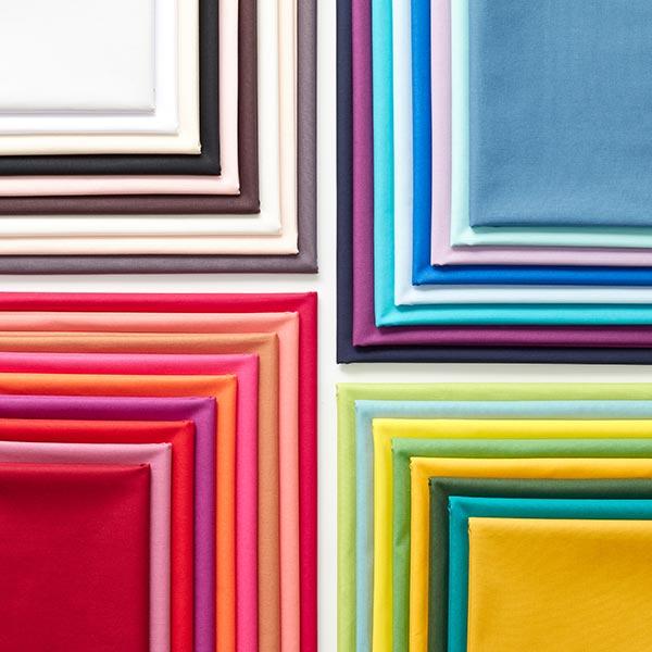 Tissu en coton Popeline Uni – noir