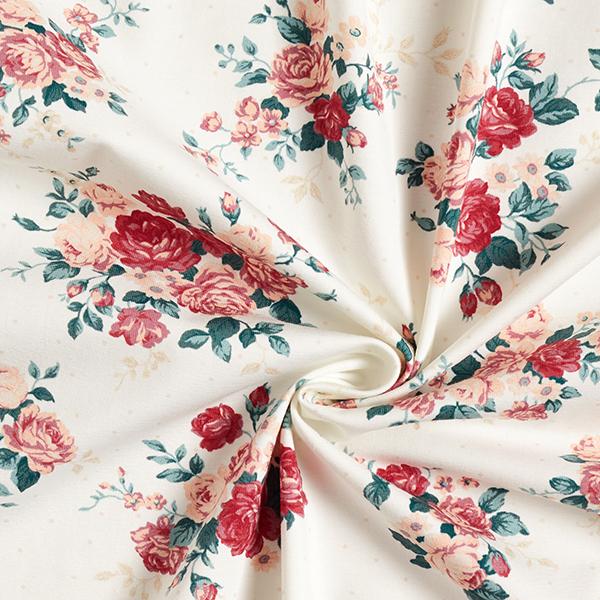 Jersey coton Roses – écru