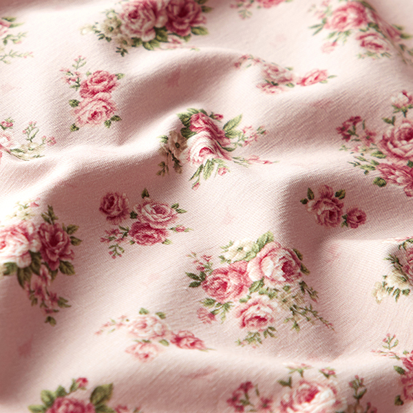 Jersey coton Roses – rose