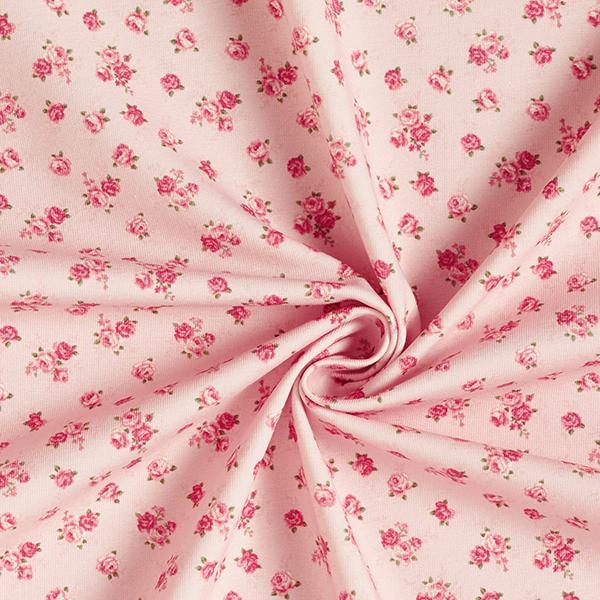 Baumwolljersey kleine Rosen – rosa