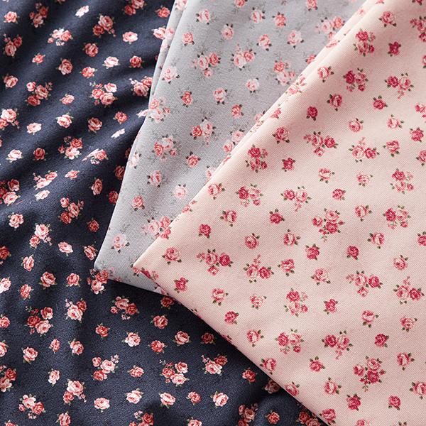 Jersey coton Petites roses – rose