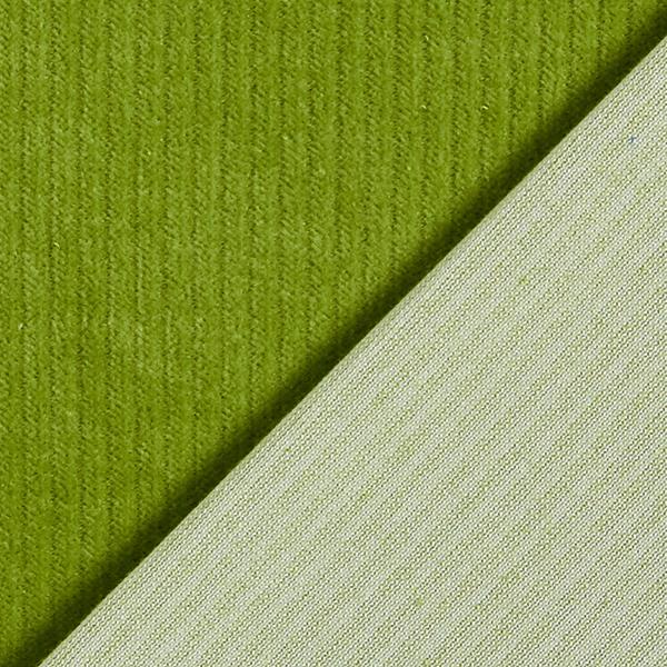 Bio Cord Nicki Stoff – apfelgrün | Albstoffe
